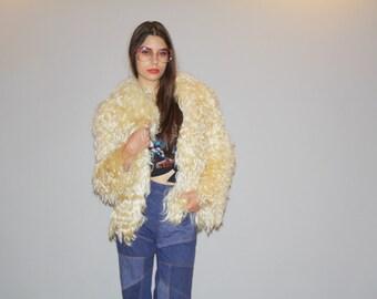 Rare 1970s Mongolian Wool Fur Coat  - Fur Coat  - 70s Fur Coats - The Disco Nights Coat - 6076
