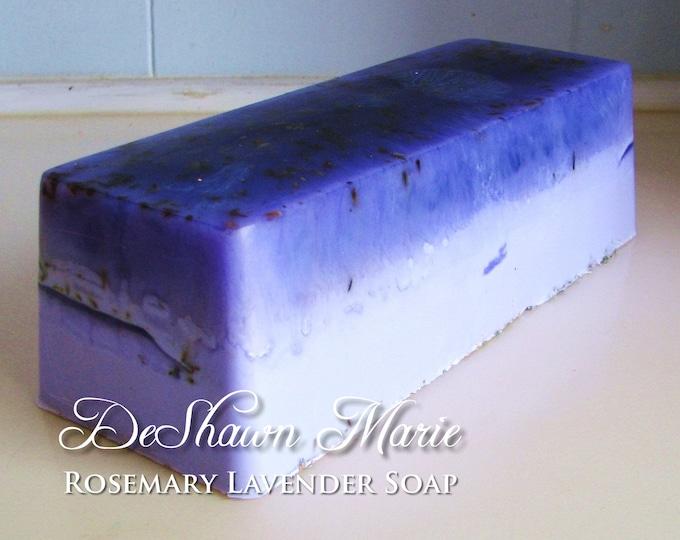 SOAP - 3lb Rosemary Lavender Vegan Handmade Soap Loaf, Wholesale Soap Loaves