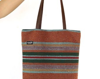 Sante Fe Striped Bag in Coral & Clay