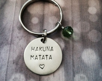 Hakuna Matata - Keychain, Necklace, Gift, Inspirational, Little Something