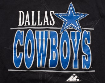 Dallas Cowboys T-Shirt, Big Star Logo Graphic Tee, Apex One, Vintage 90s