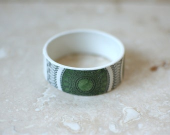 StayGoldMaryRose - 1970's green stoneware 'Delamere' teacup bangle.