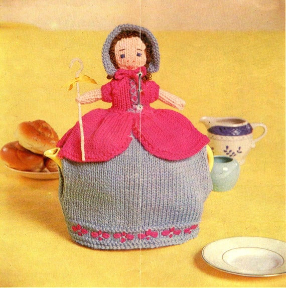 Novelty Tea Cosy Knitting Patterns : vintage knitting pattern teapot cozy tea cosy Little Bo Peep novelty cosies r...