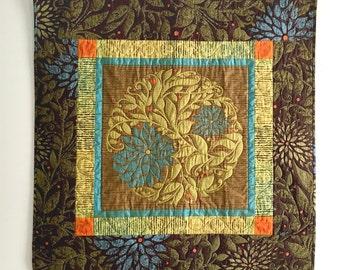 Folk Art Quilt - Medallion - Art Quilt - Whimsical