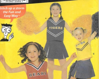 Simplicity 5485 Cheerleading Costumes Uniform Easy Size 8 to 12 Uncut