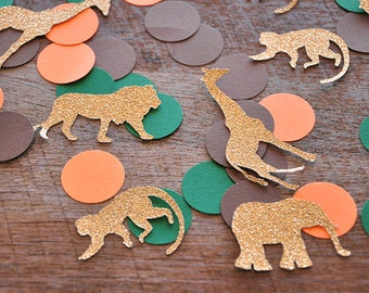 Jungle Baby Shower Decorations. Handcrafted in 2-3 Business Days. Jungle Confetti mix (50CT).
