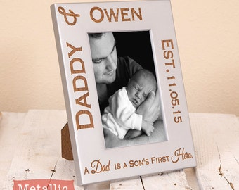 Dad and Son/Daughter Personalized Frame - Personalized Dad Picture Frame - Dad Gift from Children - Gifts for Dad - Birthday Gift