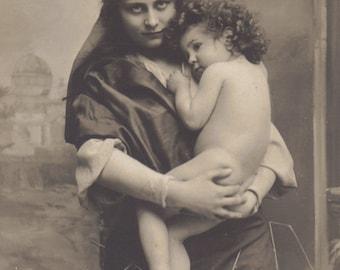 Madonna and Child, Vintage Postcard circa 1910s