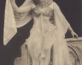 Bellydancer in Costume Orientale by Axel Eliasson Art Publishers, posted 1908