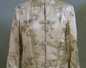 """Vintage Silk Reversible Jacket with Decorative Fabric Frog Closures Bust 41"""" Waist 40"""""""