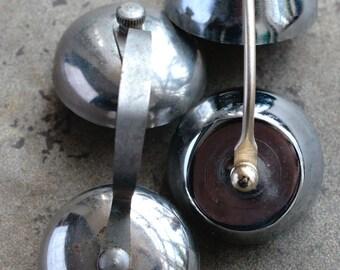 Alarm clock double bells -- small -- set of 2