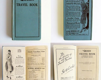 1930s Travel Guide, The Queens Travel Book, 1930 - 1931, Vintage Advertisments, Old Advertising, Foldout Maps, Tourist Guide