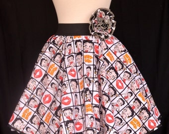 Betty Boop, Retro Twirl, Full Skirt, Elastic Waist Band