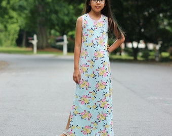 Dogwood Dress PDF pattern sizes 12m-8
