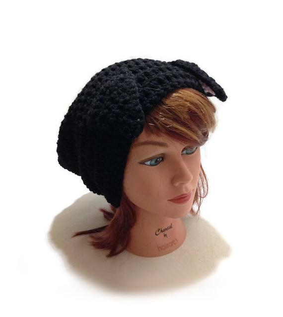 Black dog hat puppy hat slouchy dog hat dog ears beanie jpg 570x638 Cowboy  hats for 180407214ea