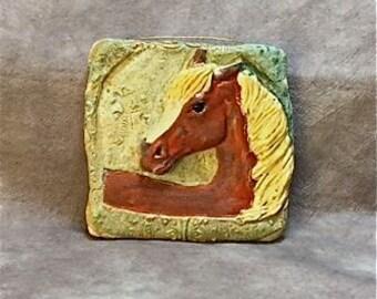 Stoneware Ceramic Horse Tile