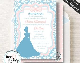 Cinderella Shower Invitation - Cinderella Birthday Invitation - Cinderella Baby Shower Invitation - Printable Princess Invite BeeAndDaisy