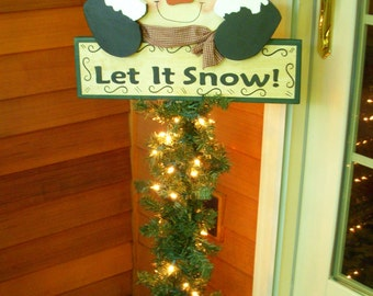 "DEBI'S DOINGS - PATTERN-Snowman Porch Greeter ""Let It Snow""- 54"" Tall"