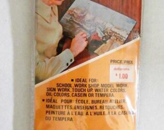 Vintage Package Artist Paint Brushes, Action Home Fair, Colorful Plastic, Snap Closure Case