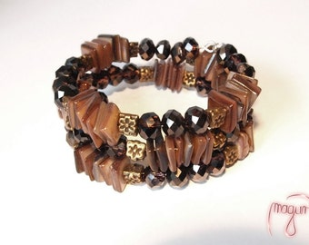 Bracelet (Memory Wire) - Honey Woods