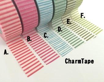 Thin Line stripes Washi Tape Roll 15mm x 10m WT1003