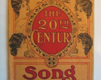 Antique 1904 Chattanooga Medicine Co. Advertising Booklet - The 20th Century Song Book - Quack Medical Remedies, Housewife Testimonials!