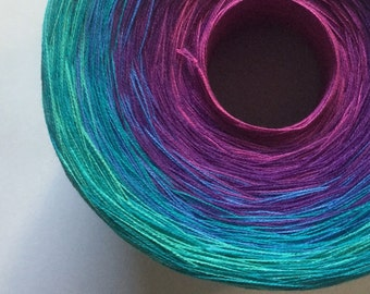 Color Change Gradient Yarn - out of this world - Moca Cotton Yarn - 6 colors - 1050 yards - fingering weight - cotton