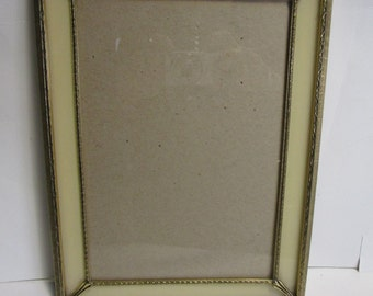vintage gold metal photo frame 9 x 12 inside is 65 by 95