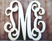 Wooden Monogram//Wall Hanging//Monogram Letters//Door Hanger//Wood Monogram Initials//Nursery Monograms//Painted or Unpainted//Wood Monogram