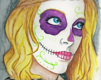 Day of the Dead Bernie new limited edition print