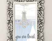 Wall Decals - You are loved - You are loved sticker - Mirror Decals - Wall Decals for Kids - Wall Art - Wall Decor - Stickers - Decals