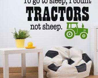 Wall Decals - Wall Decal - Tractor Decal - Decals -  Wall Decals for Kids - Nursery Wall Decals - Farm Nursery - Boys Room Decor