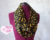Black Batman Infinity Scarf (Size Doll, Child and Ladies) circle scarf, mommy and me, dolly and me, mother daughter matching set