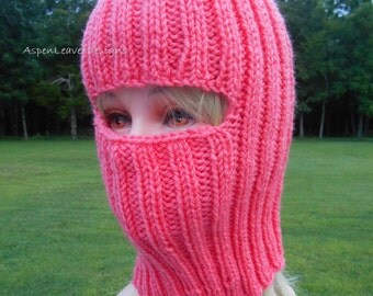 Bright Pink Balaclava, Ski Mask,  Full Face Coverage, Hikers, Exercise Outside, Mountain and Rock Climbers, Construction, Builders