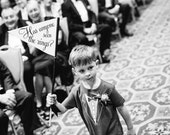 "Funny Ring Bearer Sign ""Has Anyone Seen The Rings?"" Wedding Banner 