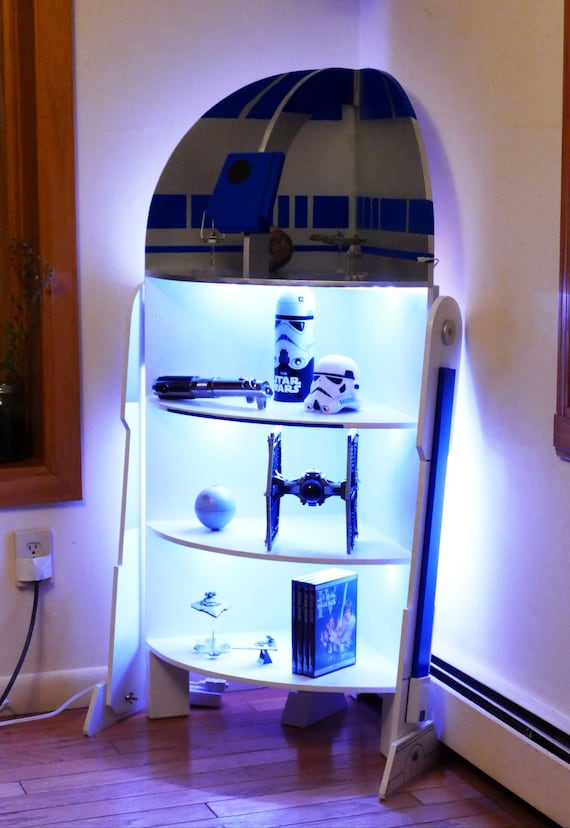 Star Wars R2-D2 Four Shelf Corner Case Cabinet Woodworking Plans (with ...