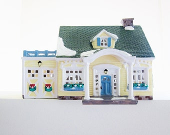North Creek Cottage Dept 56 Snow Village 1989 Lighted Electric Ceramic House Vintage Holiday Decor Christmas Display Train Set Accessory