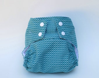 All-in-One Cloth Diaper  Teal