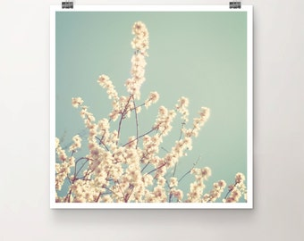 Underneath the Cherry Tree - Fine Art Print of Cherry Blossoms in Spring with a vintage Feel