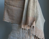 Local Cotton Hand-spun Handwoven Colorgrown Everyday Luxury Shawl, Scarf or Blanket