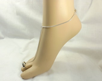 Slaved anklet toe ring body jewelry Anklet bracelet foot worship mature foot fetish jewelry
