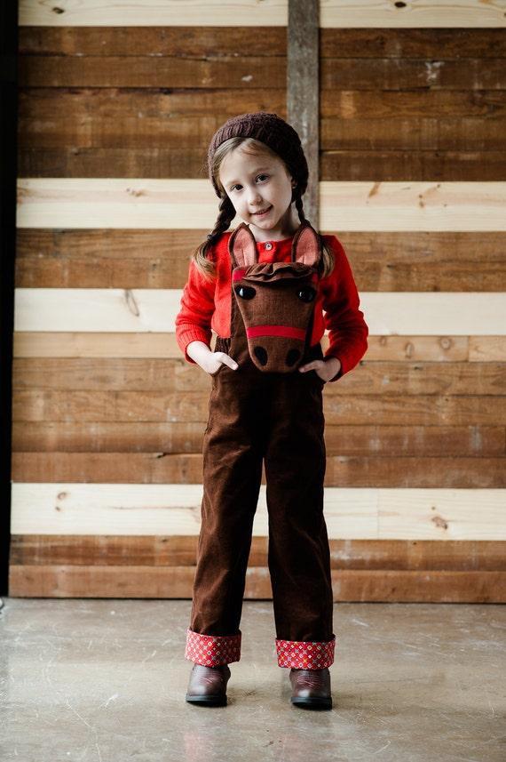 Pony Overalls Sewing Pattern //Wild Things Book with Pattern CD by Molly Goodall//Child and Toddler Pony Halloween Costume