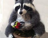 Needle Raccoon Sculpture