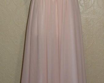 beautiful pink champagne chiffon dress rosebud pink brides maid dress mother of bride dress wedding dress SIZE 12-14