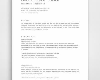 CV, CV Template, CV Design, Curriculum Vitae Template, Cv Moderne, Curriculum Vitae, Minimalist, Modern, Cv Templates, Simple