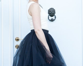Black tulle skirt, bridesmaid skirt
