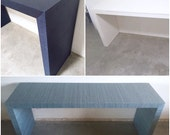Grasscloth Waterfall Table - Custom Built To Suit Your Space- Design Your OWN