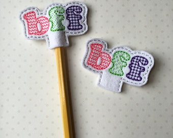 BFF Pencil Toppers- Sets of 10 for 10.00 available