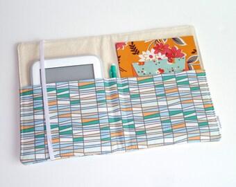 Notepad Organizer / Padfolio / List Taker / Portfolio / iPad Mini /e-Reader Case- Basket of Thyme