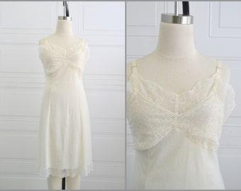 1960s Cream Lace Slip